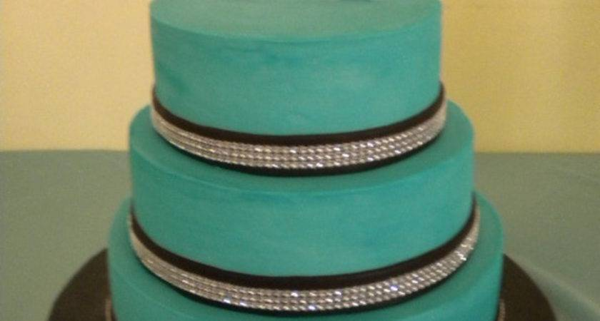 Teal Chocolate Brown Wedding Cake Cakecentral