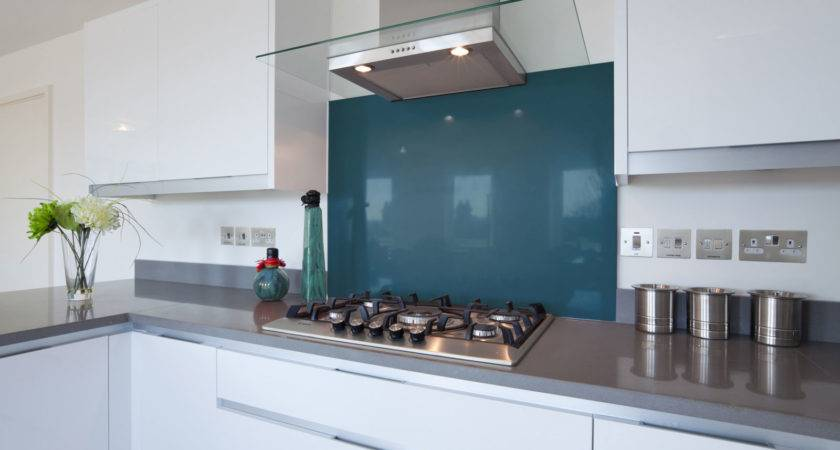 Teal Coloured Glass Hob Splashbacks Splash Acrylic