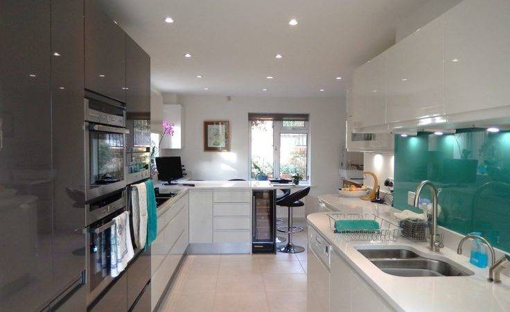 Teal Glass Splashback Interior Design Pinterest