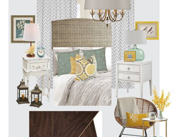Teal Gray Yellow Bedroom Polyvore