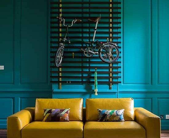 Teal Mustard Living Room Decorating