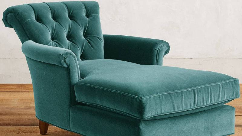Teal Velvet Gwinnette Chaise Lounge Everything Turquoise