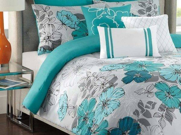 Teal White Bedding Decorate House