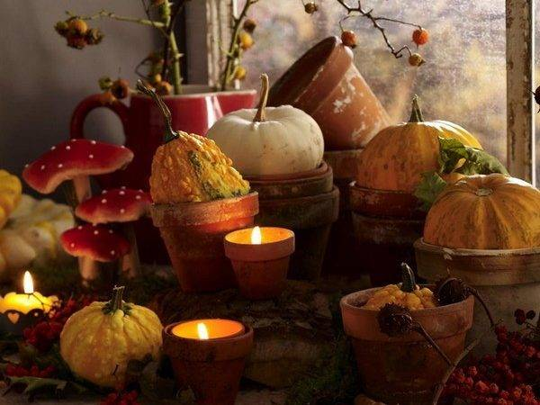 Thanksgiving Candles Holder Crafts Make Your House