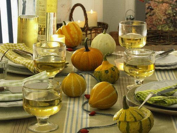 Thanksgiving Day Table Decorations
