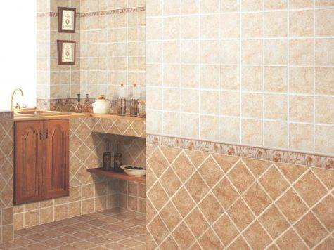 Tile Designs Bathroom Grasscloth