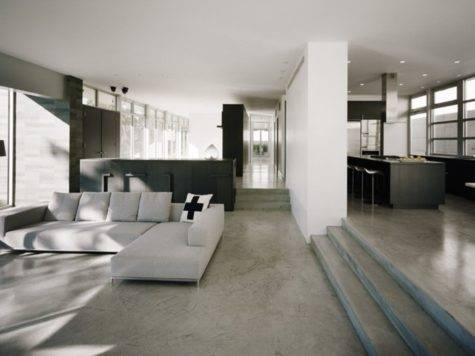 Times Concrete Floors Made Living Rooms Look Stunning