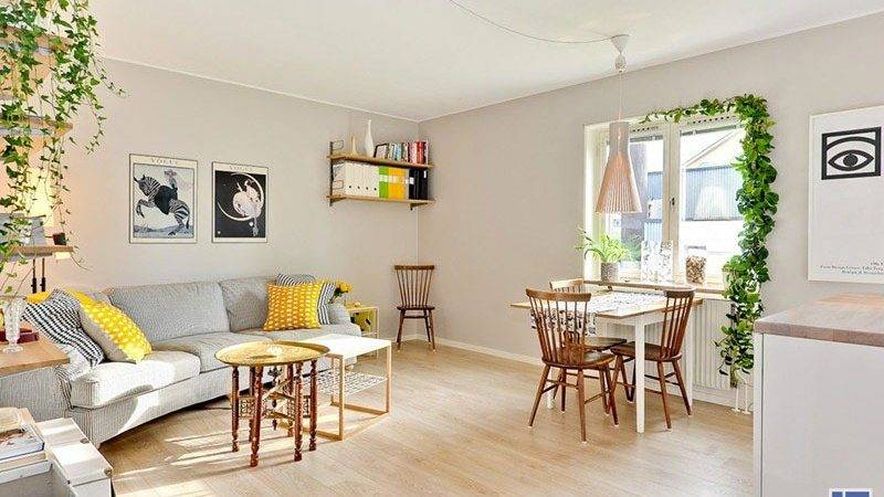 Tiny Studio Apartment Swedish Charm