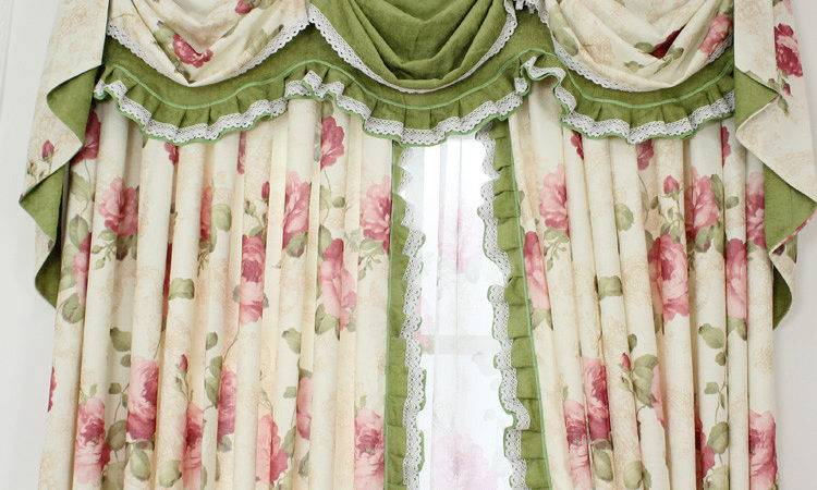 Top Shabby Chic Curtains Green Refreshing