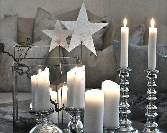 Top Silver White Christmas Decoration Ideas