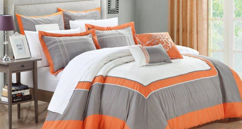 Ideas For Bedding With Orange Accents