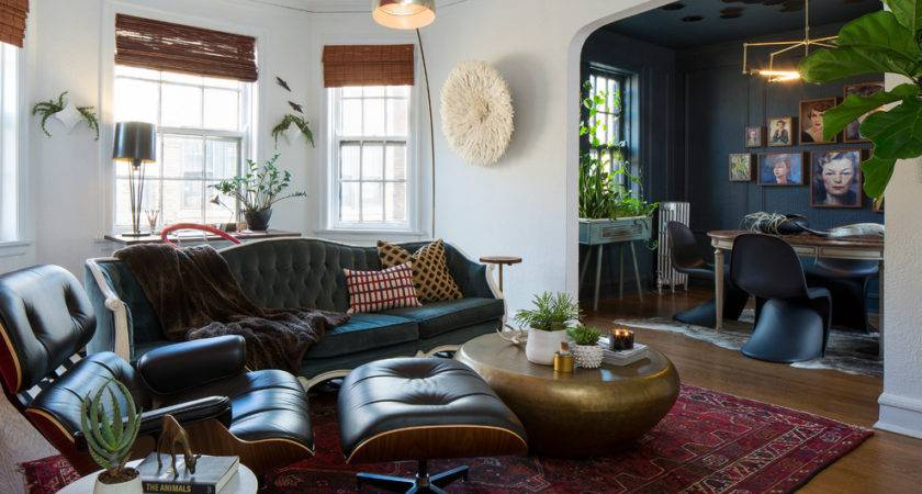 Traditional Industrial Design Living Room Eclectic