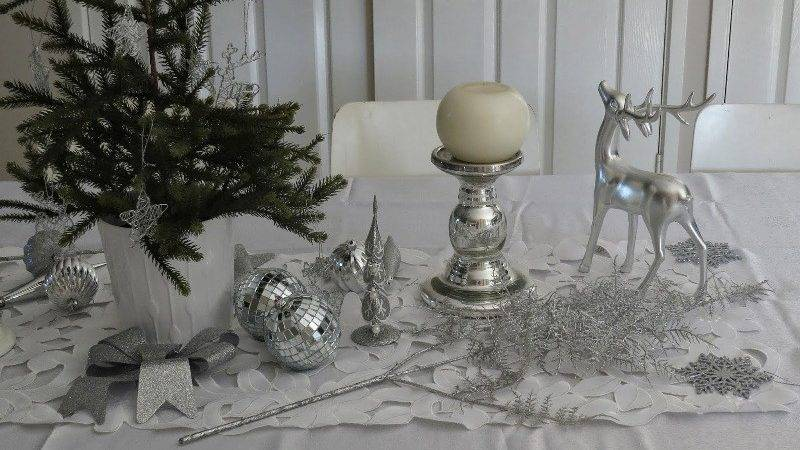 Traditional Silver Christmas Decorations Ideas Magment