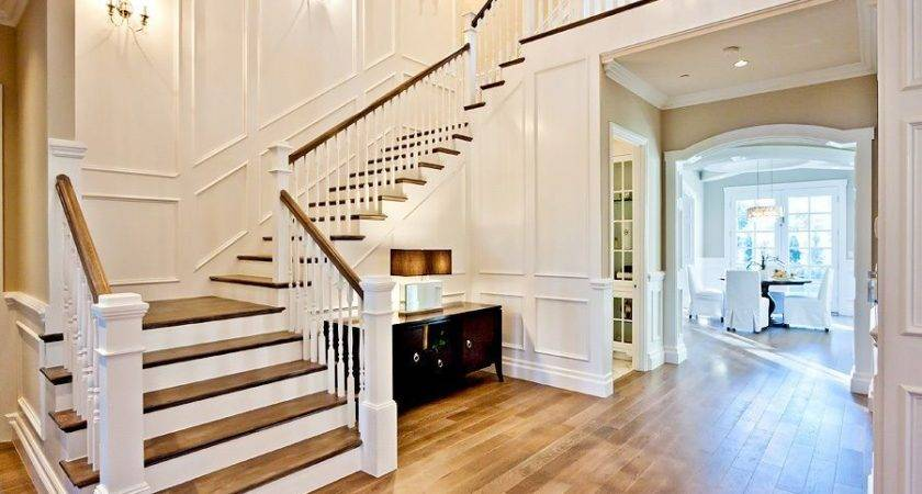 Traditional Staircase Crown Molding Wainscoting