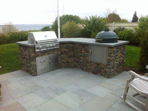 Tranquil Lowes Outdoor Kitchen Stone Grey Floor