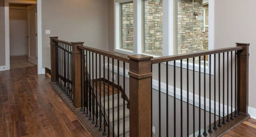 Transitional Interior Railing Artistic Iron Works