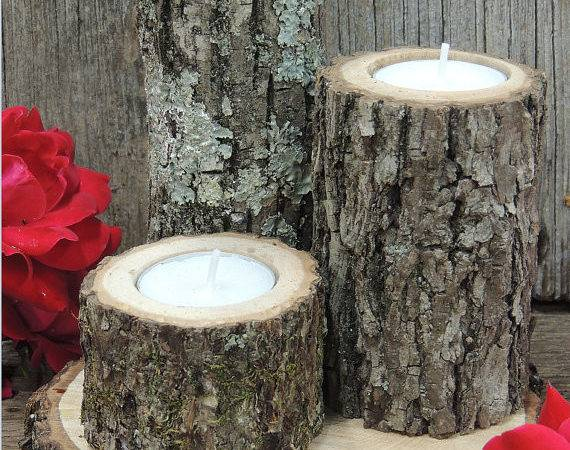 Tree Branch Candle Holders Rustic Churchhousewoodworks
