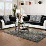 Trendy Black Sofa Living Room White Ascent