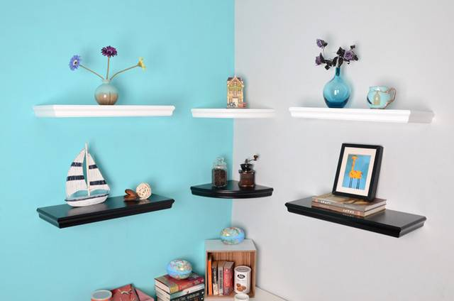 Trenton Floating Shelves Corner Shelving Modern
