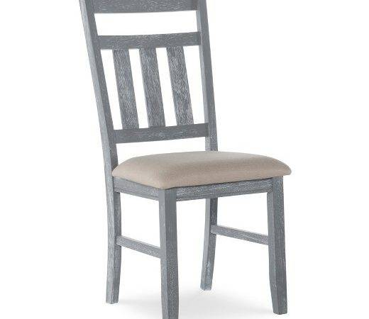 Turino Distressed Dining Chair Wood Gray Set