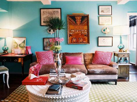 Turquoise Blue Walls Design Ideas
