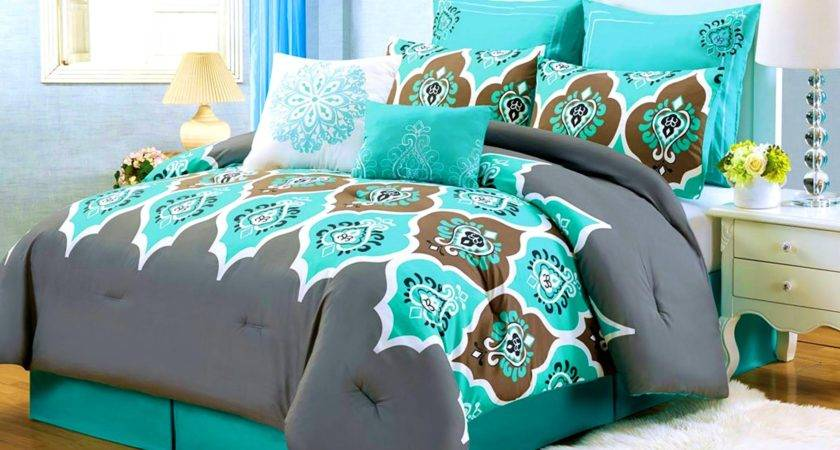 Turquoise Brown Bedroom Decorating Ideas Home