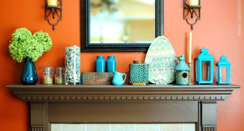 Turquoise Brown Home Decor Orange