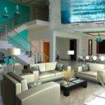Turquoise Brown Living Room Decor Tiffany Blue