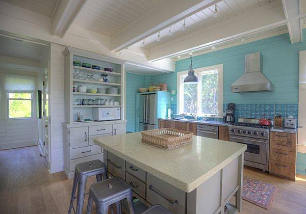 Turquoise Cozy Cottage Interior Design Custom Homes