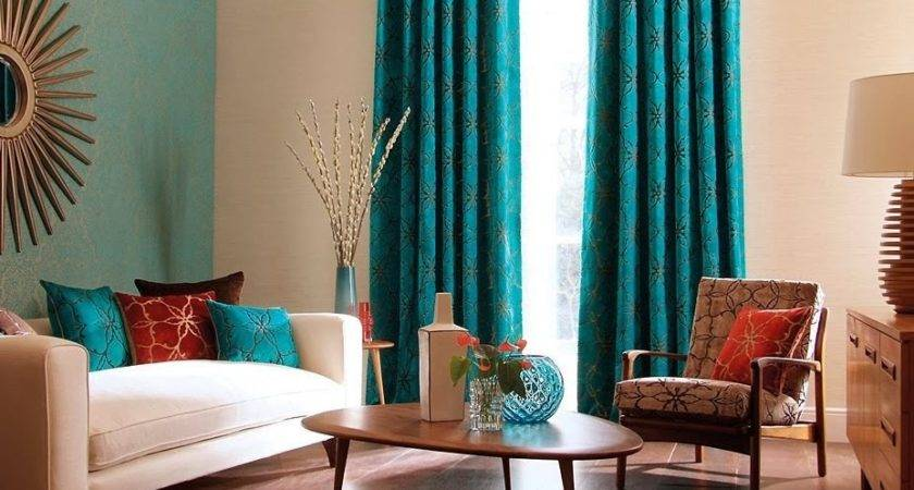 Turquoise Curtains Living Room Looks Better