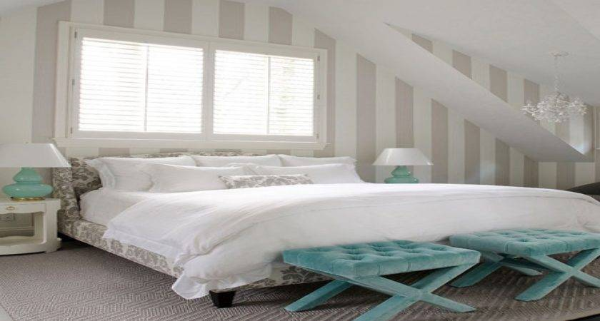Turquoise Grey Bedroom White Master