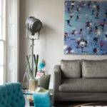 Turquoise Grey Living Room Ideas
