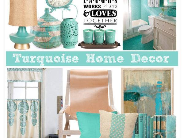 Turquoise Home Decor Polyvore
