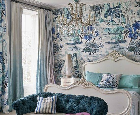 Turquoise Landscape Feature Wall Mural Walls