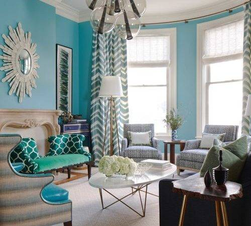 Turquoise Living Room Houzz
