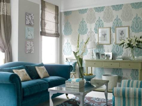 Turquoise Sofa Contemporary Living Room House Home