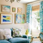 Turquoise Sofa Contemporary Living Room Katie