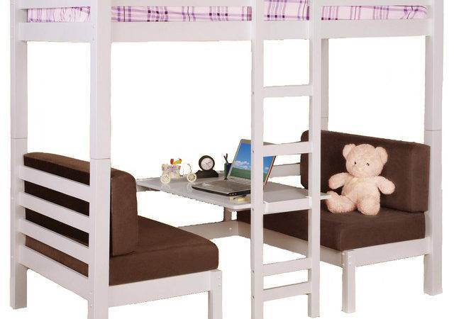 Twin Over Convertible Bunk Loft Bed Youth Bunkbed