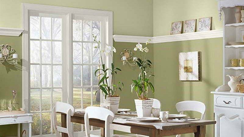 Two Tone Dining Room Paint Planning Ideas
