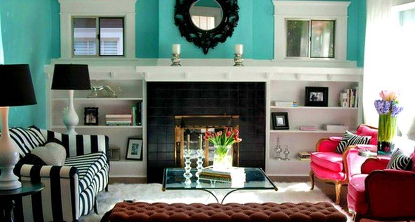 Uncategorized Turquoise Brown Living Room
