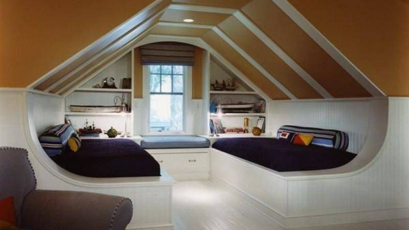 Unique Modern Attic Storage Ideas Bedroom