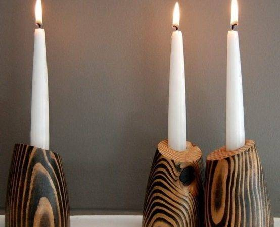 Very Cool Decorative Wood Candle Holders Jeanpelle
