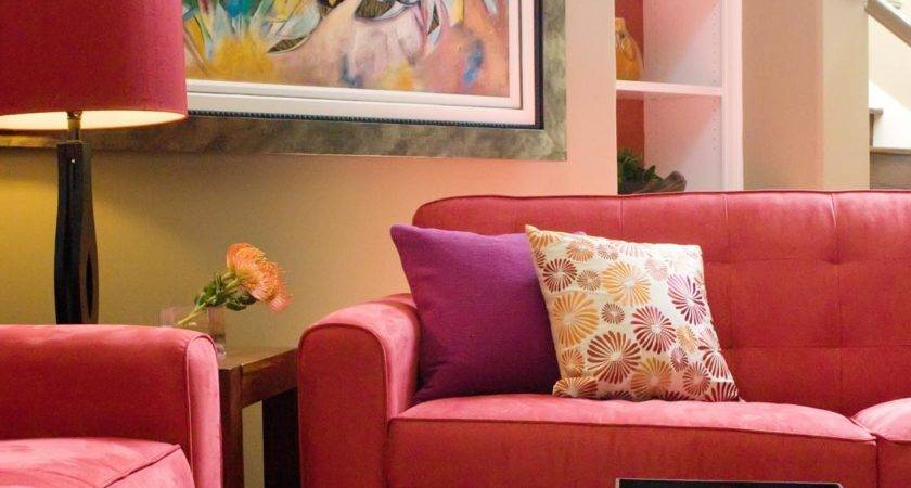Vibrant Red Sofas Living Room Dining Decorating