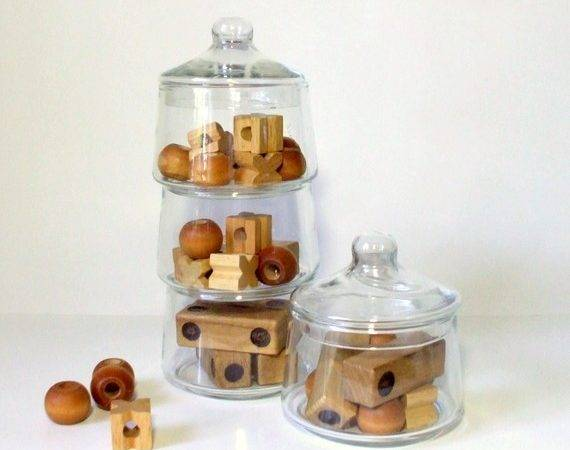 Vintage Apothecary Jars Stackable