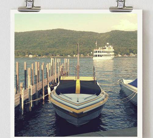 Vintage Boat Nautical Photography Bathroom Decor