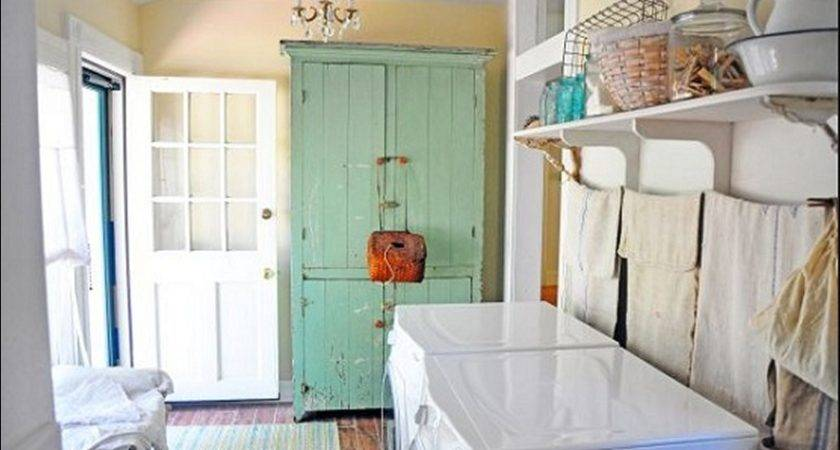Vintage Laundry Room Decorating Ideas Pin