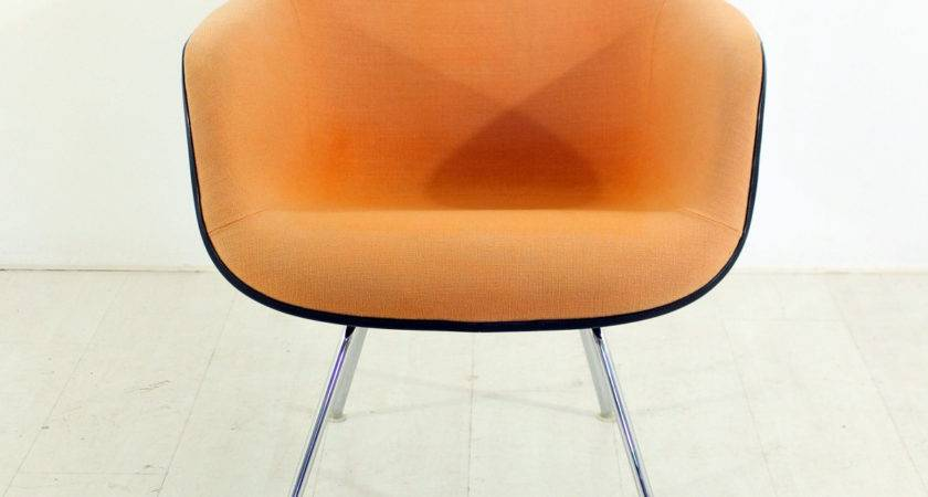 Vintage Lounge Chair Terracotta Charles Ray Eames