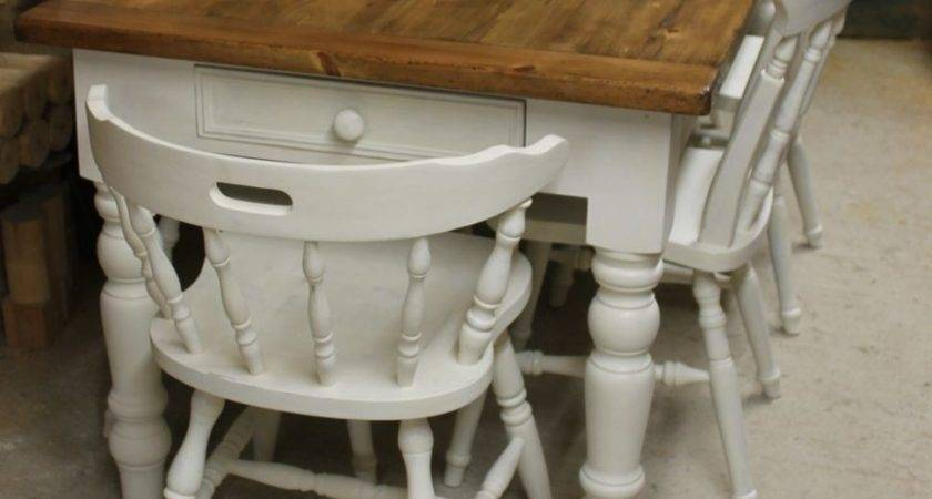 Vintage Pine Farmhouse Table Chairs Made Order