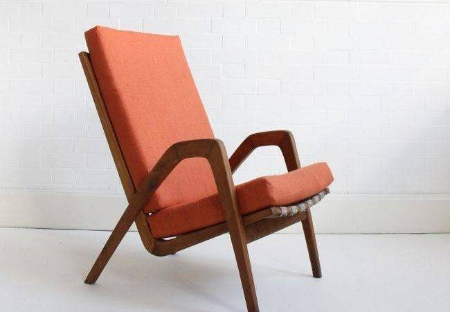 Vintage Terracotta Lounge Chairs Kopacek Set