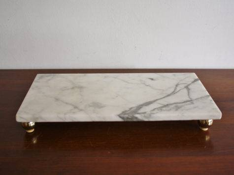 Vintage White Marble Cheese Platter
